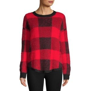 Buffalo plaid cozy sweater!